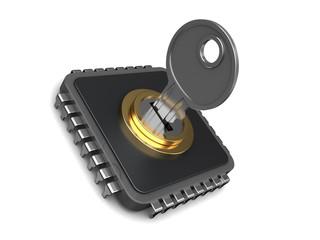 locked chip