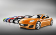 3D Image of Sports Car Collection