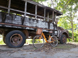 Bicycle and old truck