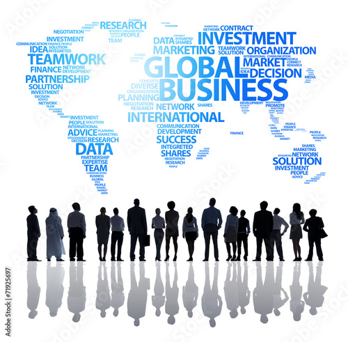 canvas print picture An Effective Global Business Team