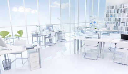 White Contemporary Clean Office Building