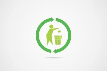 Recycle symbol logo vector