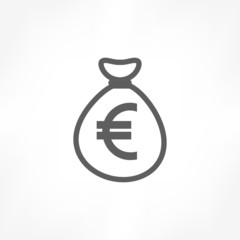 money bag euro icon