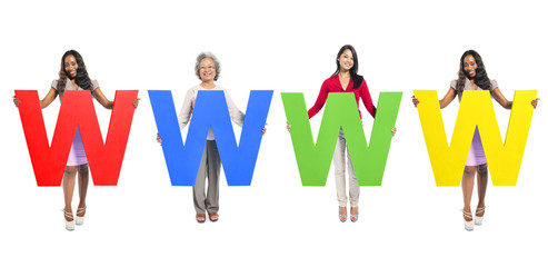 "Multi-Ethnic Group of People Holding Letter ""W"""