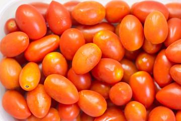 photo of very fresh tomatoes.