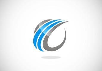 abstract loop business finance vector logo