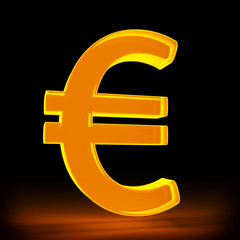 leuchtendes Eurosymbol