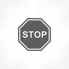 stop traffic sign icon