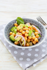 chickpea salad with avocado