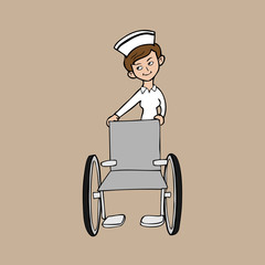 Nurse wheel chair