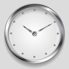 Abstract metallic vector clock design