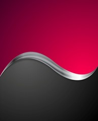 Crimson abstract background with metal wave