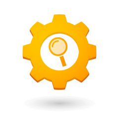 Gear icon with a magnifier