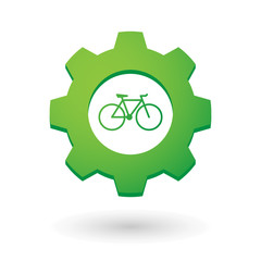 Gear icon with a bicycle