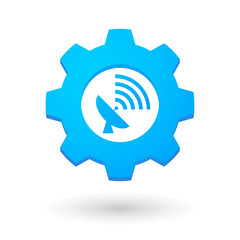 Gear icon with an antenna