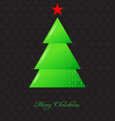 Elegant christmas background with christmas tree
