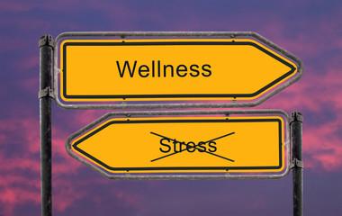 Strassenschild 22 - Wellness