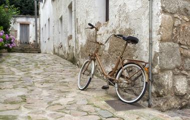 Bike in city street. Europe.Spain