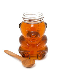 honey jar and spoon