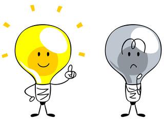 アイデア・閃き・電球のキャラクター