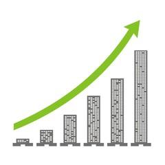 Gráfica crecimiento de la empresa
