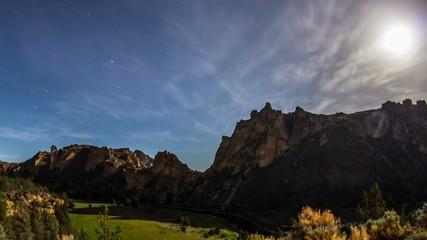 Smith Rocks Stars Moon Milkyway 550