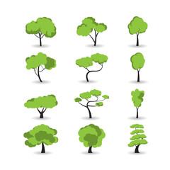 tree icon set, vector eps10