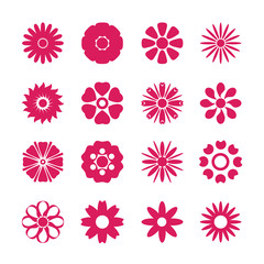 flower icon set, vector eps10