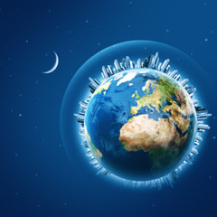Earth is our home, environmental backgrounds. NASA imagery used