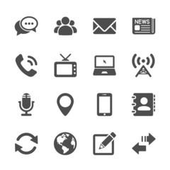 communication device icon set 2, vector eps10