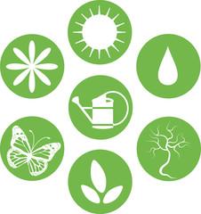 set of natural icons