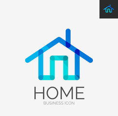 Minimal line design logo, home icon