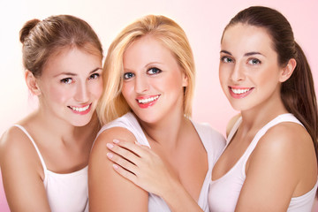 Portrait of three beautiful women