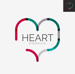 Minimal line design logo, heart icon