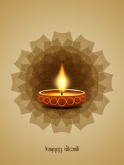 Happy Diwali vector greeting card design.