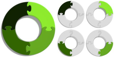 Circle Puzzle 04 - Green