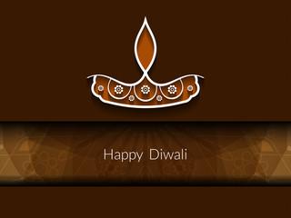 Religious card design for Diwali festival