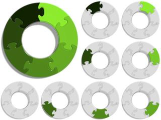 Circle Puzzle 07 - Green