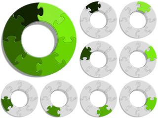 Circle Puzzle 08 - Green