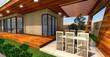 3D rendering of modern house  terrace