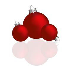 Christmas ball, small and big, red