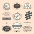 Vintage Style Wedding border and frames