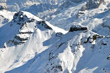 Ski resort in the Dolomites