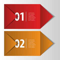 Modern infographics element origami style banner. Vector