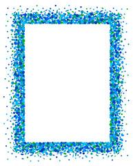 Confetti frame in blue