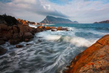 Tavolara island in Sardinia, Italy.