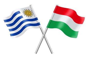 Flags: Uruguay and Hungary