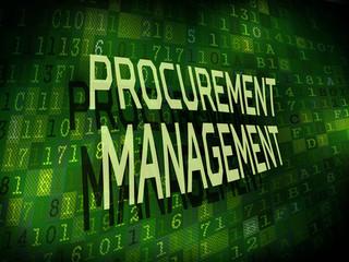 procurement management words isolated on digital background