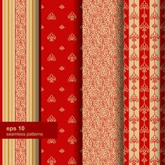 Set of 4 seamless pattern