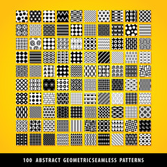 Big set of abstract geometric seamless patterns.